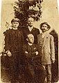 Izidor Cankar, Anton Verovšek in Ivan Cankar na obisku pri Franu Saleškem Finžgarju 1911.jpg