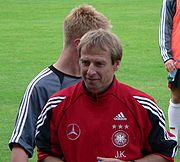 Klinsmann as manager of Germany in 2005