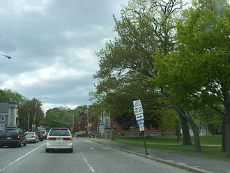 Maine State Highway System - Maine 22 intersection on Maine 77