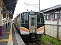JRE E129 at Higashi-Sanjo Station.jpg