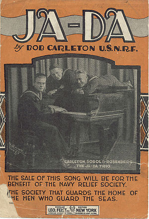 Ja-Da - 1918 sheet music cover