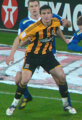 Hobbs in actie namens Hull City in 2012