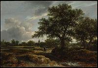 Jacob van Ruisdael - Landscape with a Village in the Distance MET.jpg