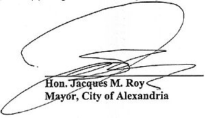 Jacques Roy (mayor) - Image: Jacques M Roy signature