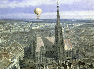 St. Stephen's Cathedral, Vienna - Watercolor by Jakob Alt, 1847