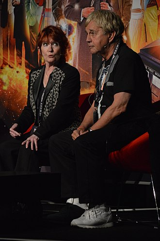 Deborah Watling - Deborah Watling and Frazer Hines at a Doctor Who 50th Anniversary event
