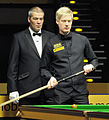 Jan Verhaas and Neil Robertson at Snooker German Masters (DerHexer) 2013-02-02 01.jpg