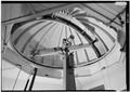 January 1975 VIEW OF DOME OVER TELESCOPE - Earlham College Observatory, National Road, Richmond, Wayne County, IN HABS IND,89-RICH,2-3.tif