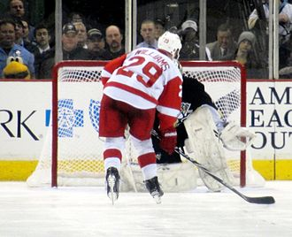 Jason Williams (ice hockey) - Williams shootout attempt vs Marc-André Fleury, January 2010.