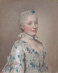 Portret van Marie Josèphe van Saksen (1731-67), dauphine van Frankrijk