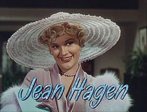 Jean Hagen dans la bande annonce de Singin' in the Rain. (via Wikipedia)