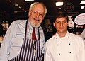 Jeff Smith, The Frugal Gourmet, with Chef Craig Wollam at Fante's Kitchen Shop (1992).jpg