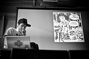Jeffrey Lewis - Lewis presenting at London's Rough Trade East in 2011