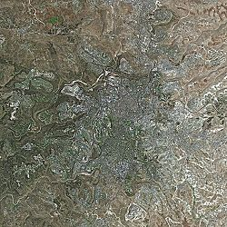 Jerusalem seen from Spot Satellite