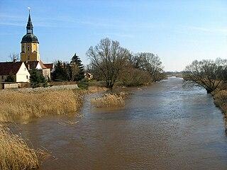 Black Elster river in Germany