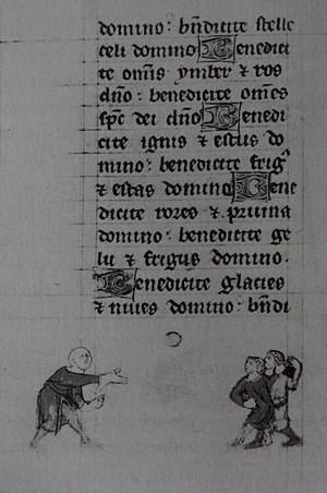 Jeu de paume - Earliest known picture of Jeu de Paume from a Book of Hours (c. 1300)