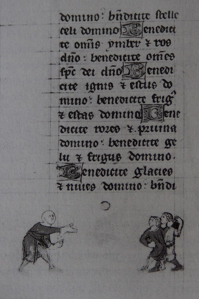 Earliest known picture of Jeu de Paume from a Book of Hours (c. 1300)