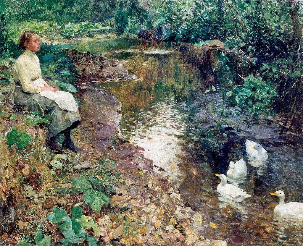 Jeune fille au bord du ruisseau (Evariste Carpentier).jpg