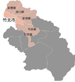 竹北市位置圖
