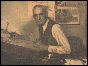 Jimmy Frise - Jimmy Frise at his drawing board