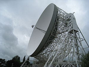 North West England - The Jodrell Bank Lovell 76-m radio telescope in Lower Withington, built in August 1957, is the world's third largest steerable telescope, and was the largest until 1971. It was designed by Sheffield's Sir Charles Husband and built of steel from Scunthorpe