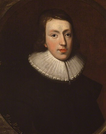 English: Portrait of John Milton in National P...