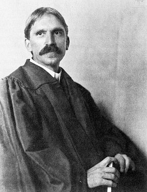 John Dewey at the University of Chicago in 1902.
