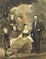 John Sartain, General Grant and his family.jpg
