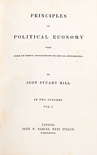 <i>Principles of Political Economy</i> book by John Stuart Mill