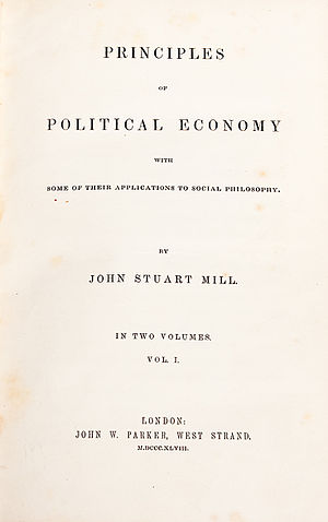 Principles of Political Economy - Cover first edition, 1848
