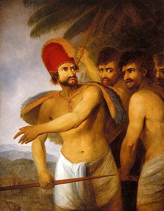 John Webber - Image: John Webber's oil painting 'A Chief of the Sandwich Islands', 1787