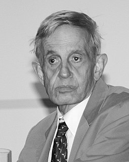 Nash in November 2006 at a game theory conference in Cologne, Germany John f nash 20061102 3.jpg