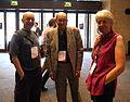 Jon Davies with Jack and Julia at Wikikmania 2014 01.jpg
