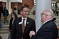 Jose Bown talks to MD Governor Larry Hogan at Goucher College.jpg