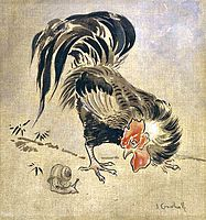 Joseph Crawhall - Spanish Cock And Snail.jpg