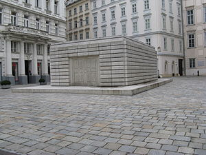 English: Judenplatz Holocaust Memorial.
