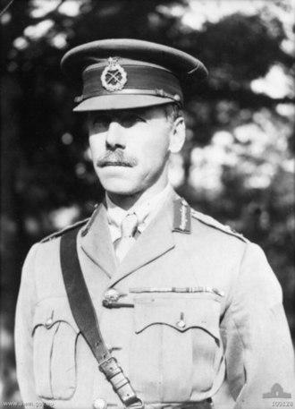Julius Bruche - Major General Sir Julius Henry Bruche when Commandant, Royal Military College, Duntroon 1931.