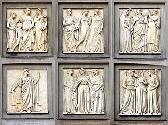 C. J. Allen (sculptor) - Image: Justice frieze, St George's Hall composite
