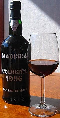 Justino Henriques Madeira wine, colheita 1996.JPG