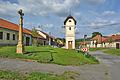 Kříž na návsi, Knínice u Boskovic, okres Blansko.jpg