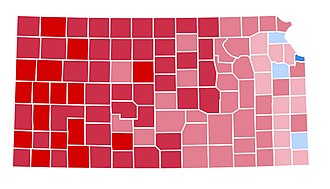 1996 United States presidential election in Kansas - Image: KS1996