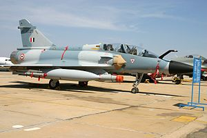 India and weapons of mass destruction - The Mirage 2000 of the Indian Air Force is believed to be assigned the nuclear strike role, operating from Maharajpur Air Force Station.