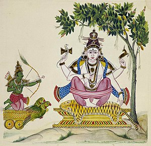 Kamadeva - Kamadeva shooting his love-arrow at Shiva