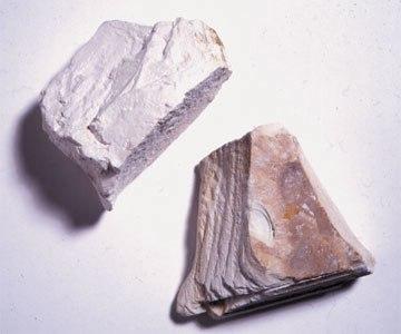 Kaolinite, une ancienne argile controversée avec la chlorite selon maints minéralogistes.