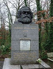 Karl Marx Tomb in London.