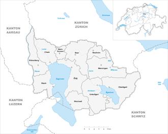 Canton of Zug - Municipalities