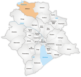 Affoltern (Zürich) - The quarter of Affoltern in Zurich.