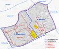 Karte von Hungelbrunn, ehem. Vorstadt von Wien und dessen Lage in den heutigen Bezirken.png