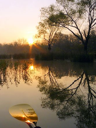 Deep Fork National Wildlife Refuge - Kayaking in the Deep Fork Wildlife Refuge at sunrise