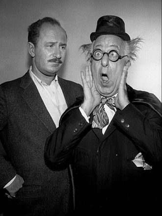 The Man in the Funny Suit - Keenan and Ed Wynn are seen in this photo from the program.